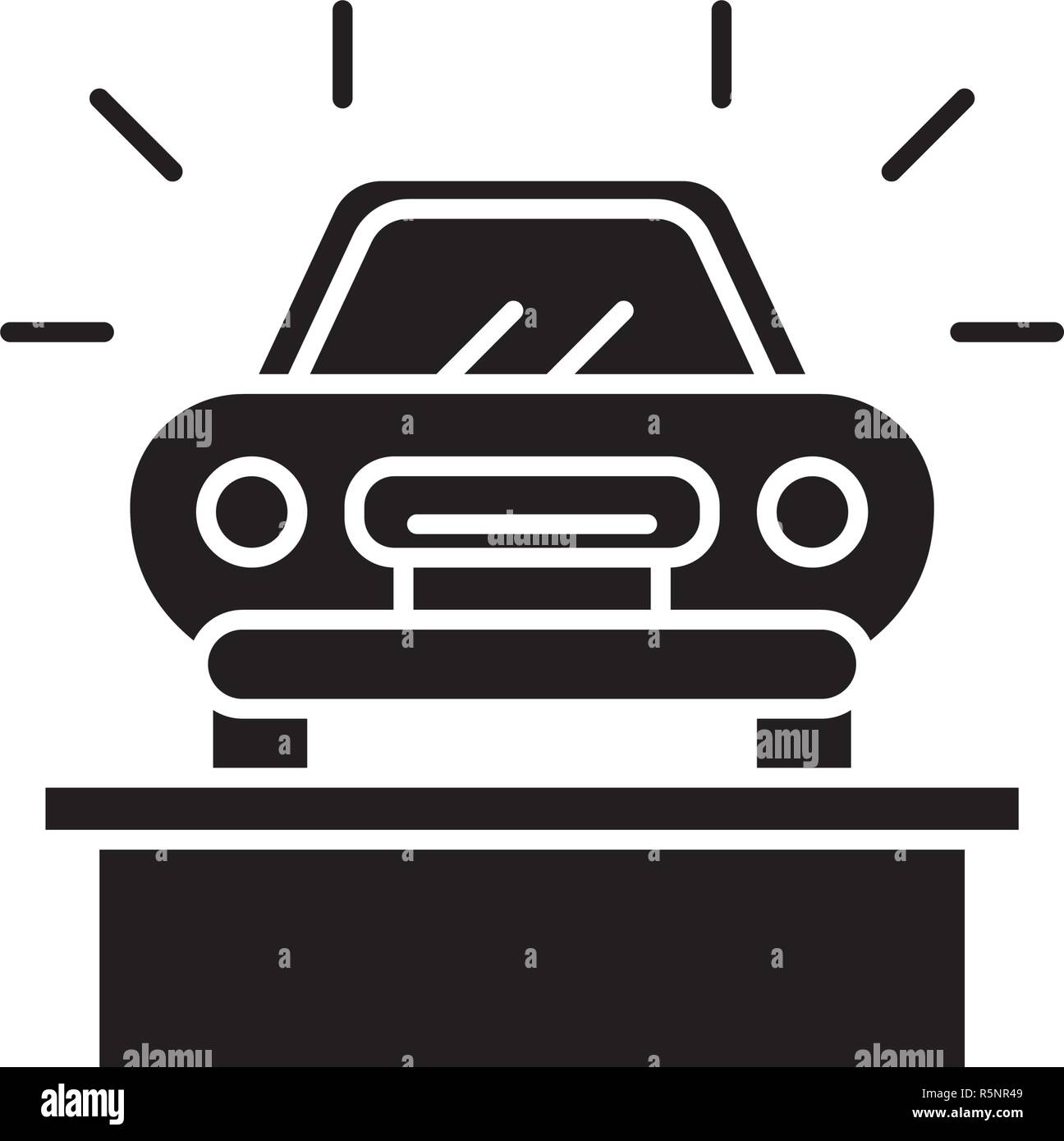 Sensational Car Showroom Black Icon Vector Sign On Isolated Background Download Free Architecture Designs Scobabritishbridgeorg