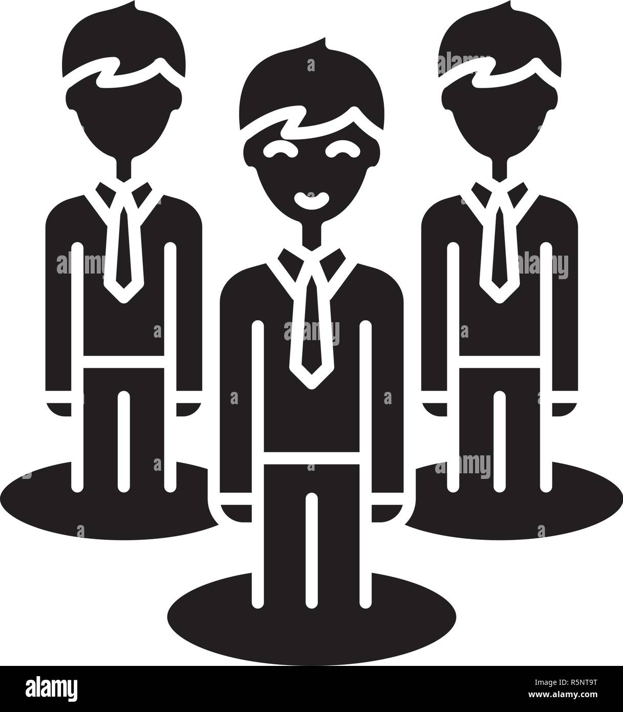 remote office team black icon vector sign on isolated background