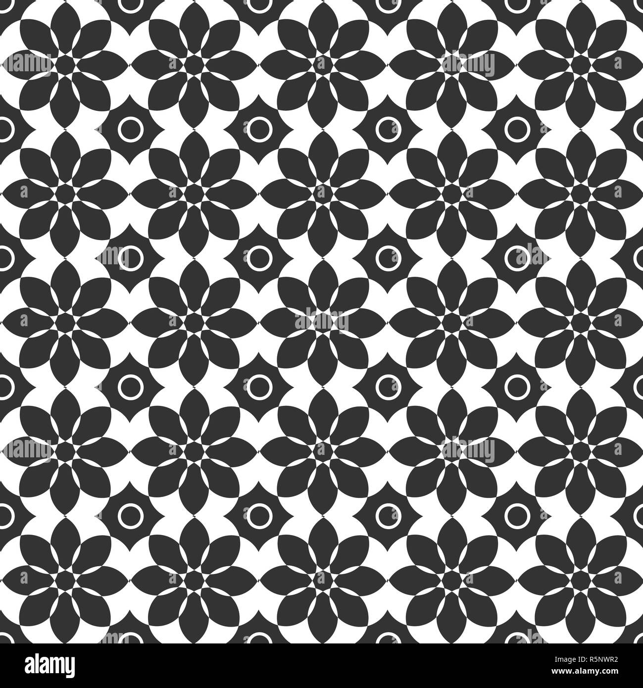 Classic dark and light seamless floral ornament patterns  Endless