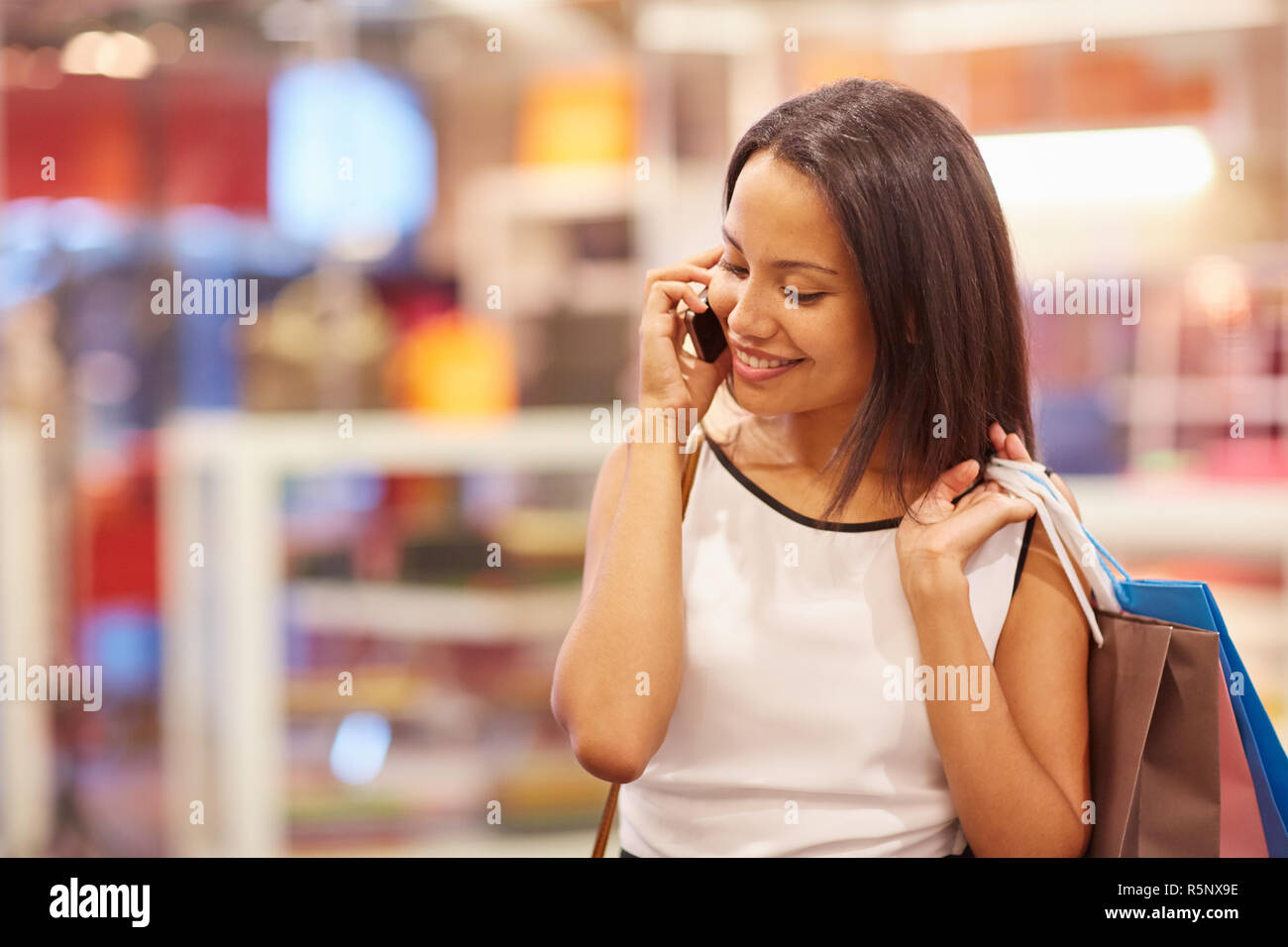 I just bought the nicest shoes! - Stock Image