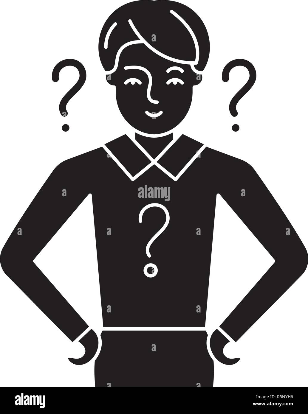 Management issues black icon, vector sign on isolated background. Management issues concept symbol, illustration  - Stock Vector