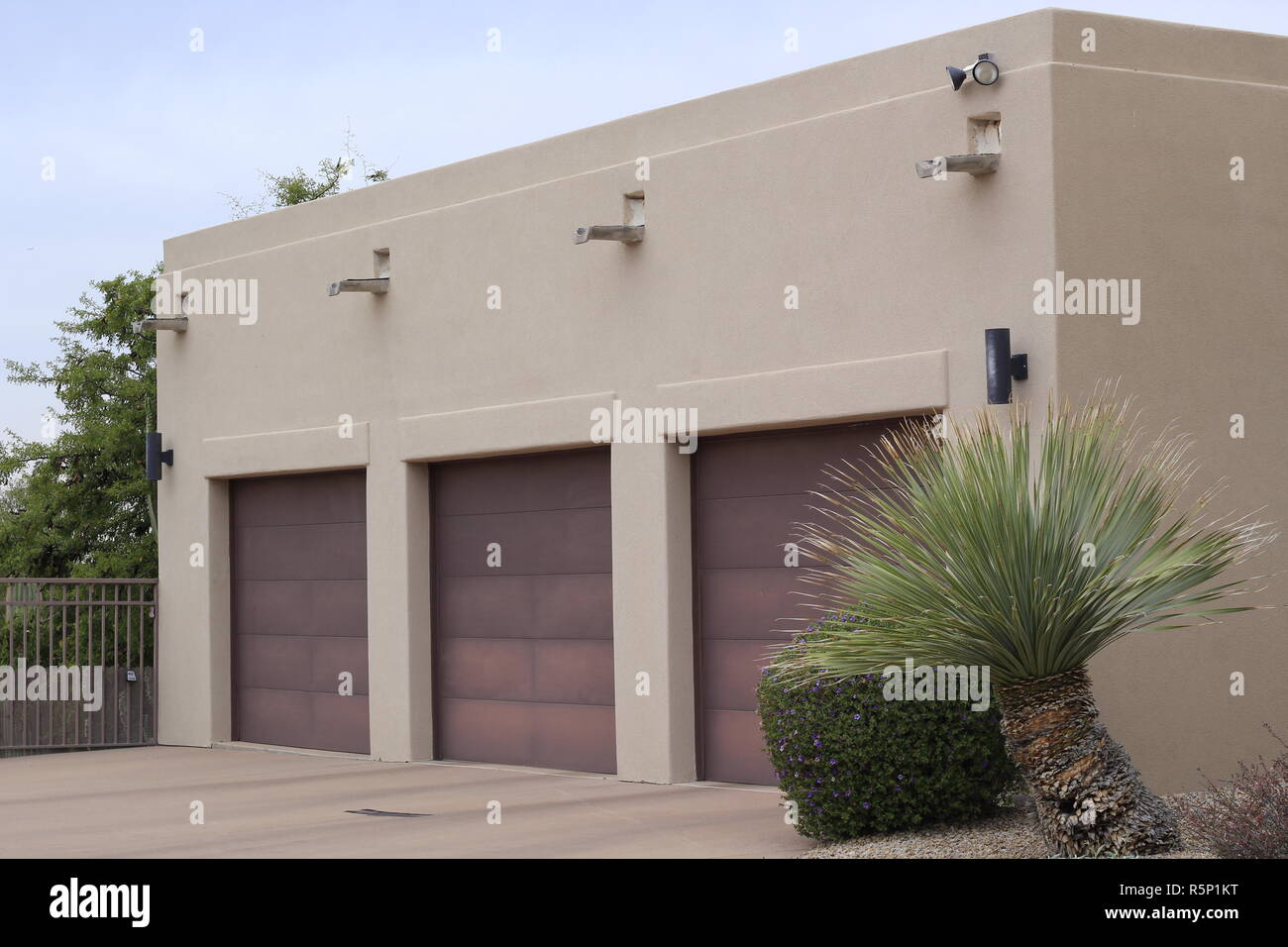 Three Car Garage - Stock Image