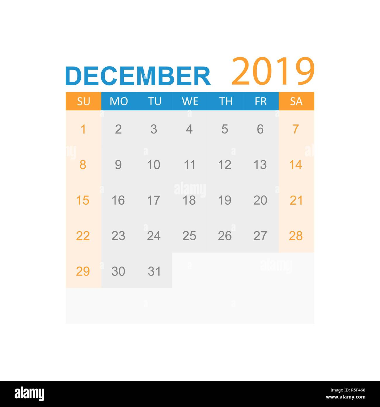 December 2019 Calendar Cut December 2019 Cut Out Stock Images & Pictures   Alamy