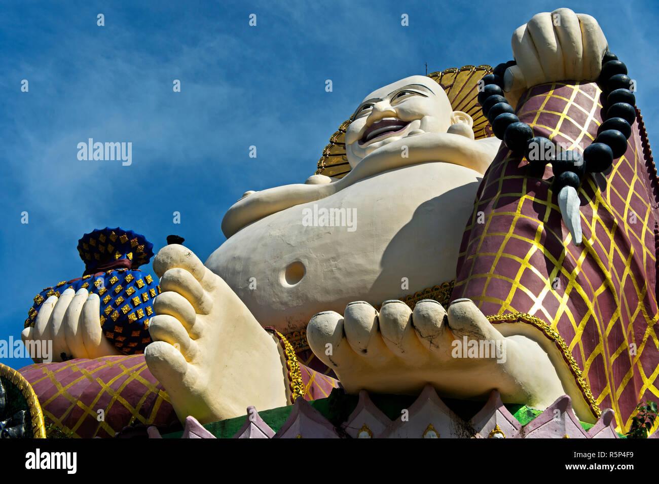 Laughing Buddha, Buddhist temple Wat Plai Laem, Koh Samui, Thailand Stock Photo