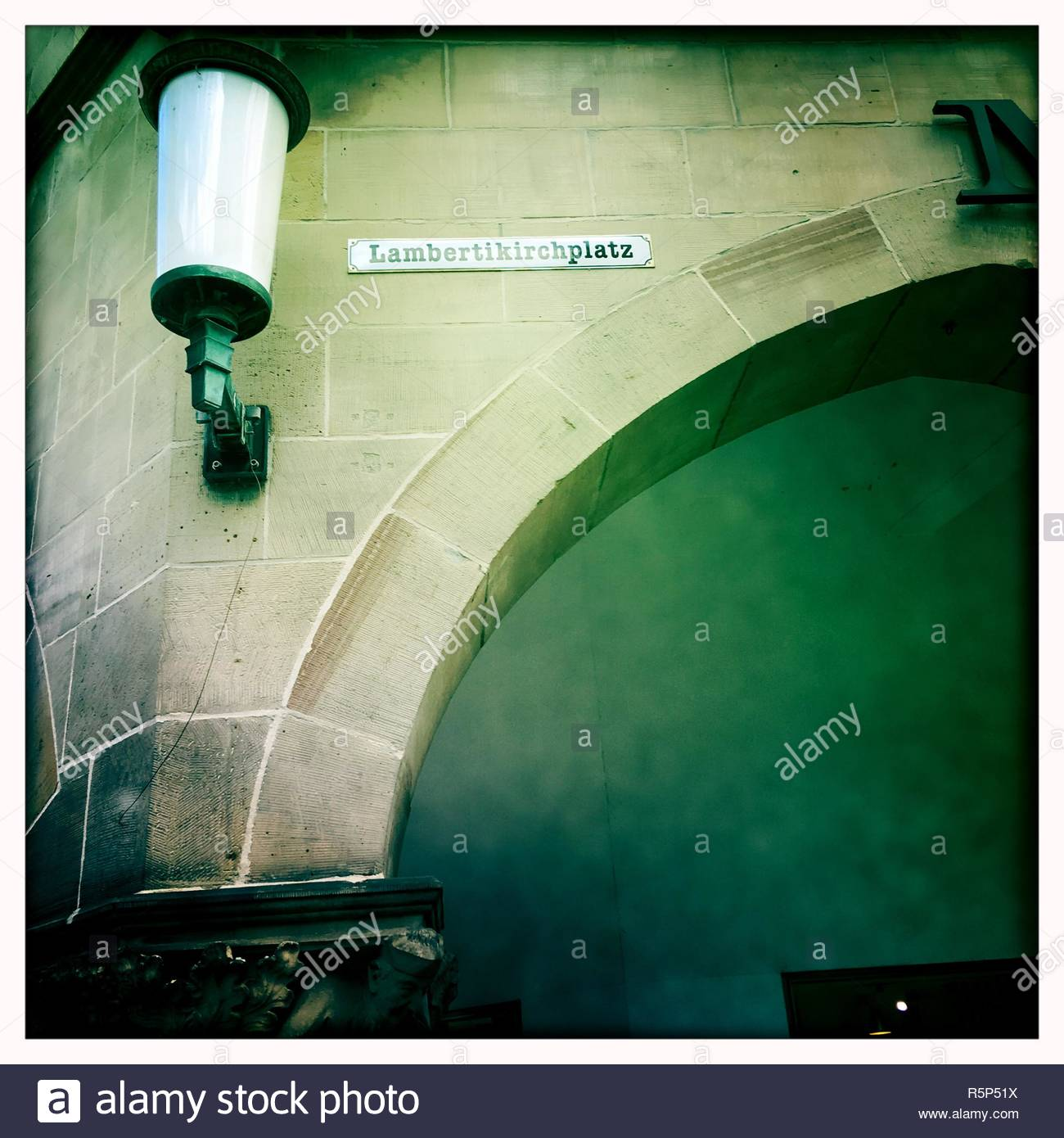 MŸnster Lambertikirchplatz NRW Deutschland - Stock Image