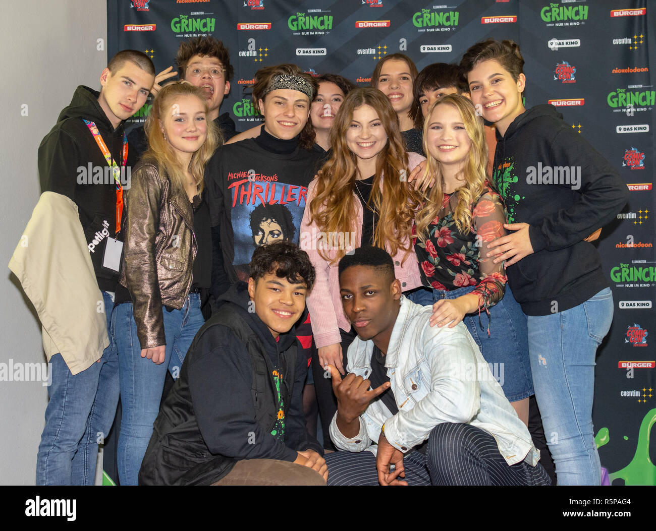 DORTMUND, Germany - December 1st 2018: Spotlight Cast at Nickelodeon Slimefest 2018, the first Slimefest in germany Credit: Markus Wissmann/Alamy Live News Stock Photo