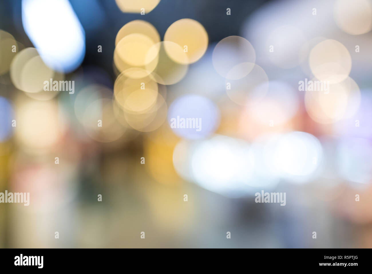 Blur view of cityscape at night - Stock Image