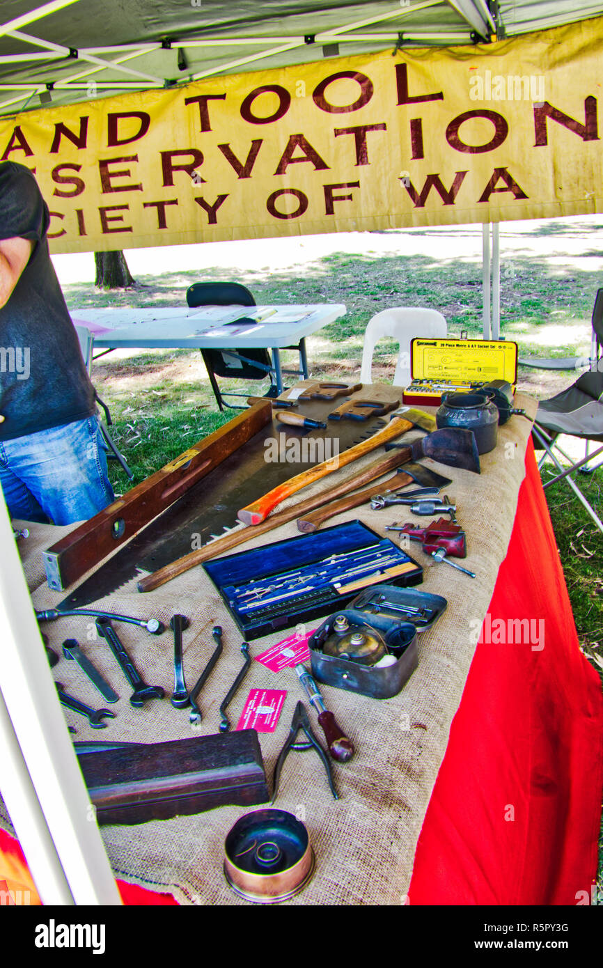 hand tool preservation society of West Australia - Stock Image