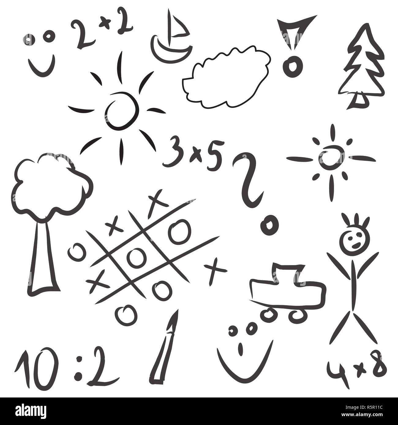 Nature Plant Drawings Silhouette Cartoon High Resolution Stock Photography And Images Alamy