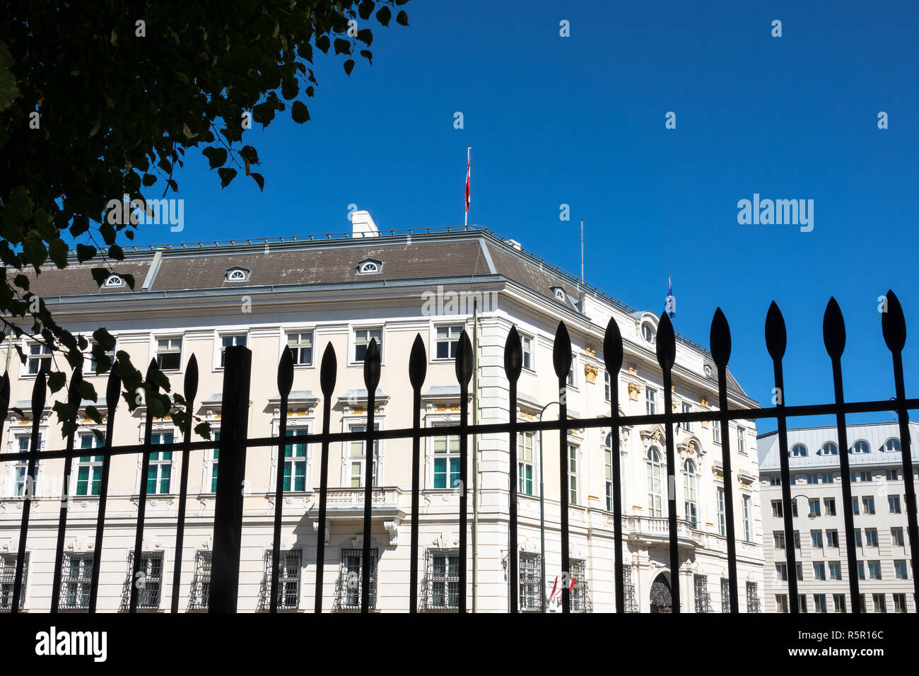 federal chancellery austria - Stock Image