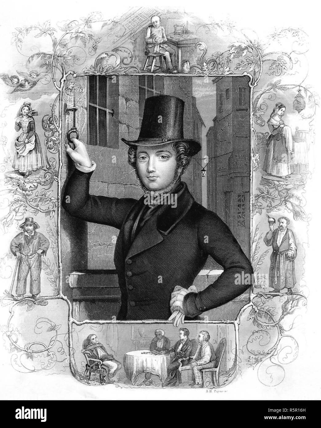 EUGÈNE SUE (1804-1857) French politician and novelist - Stock Image