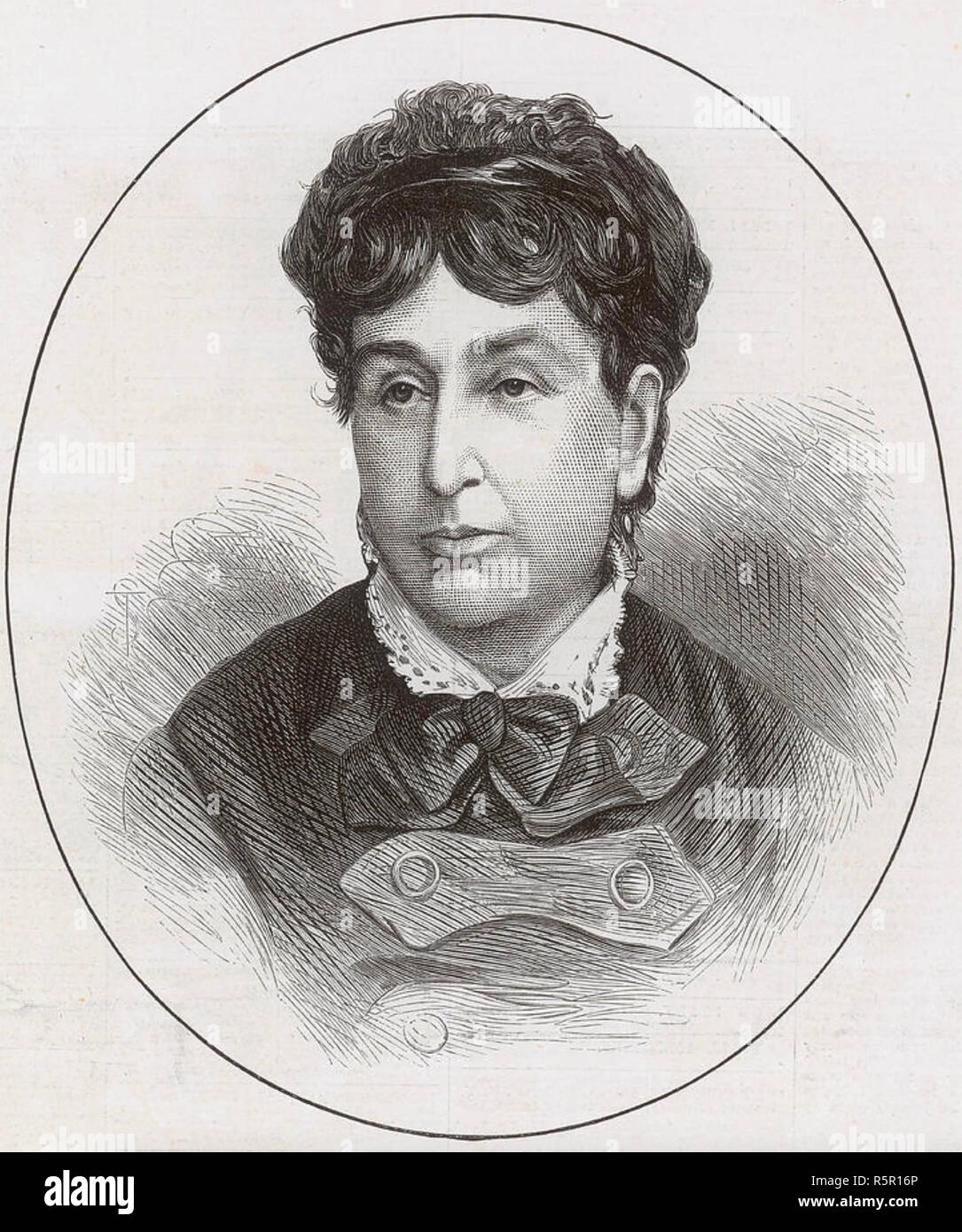 GEORGE SAND pen name of  Amatine Dupin (1804-1876) French novelist - Stock Image
