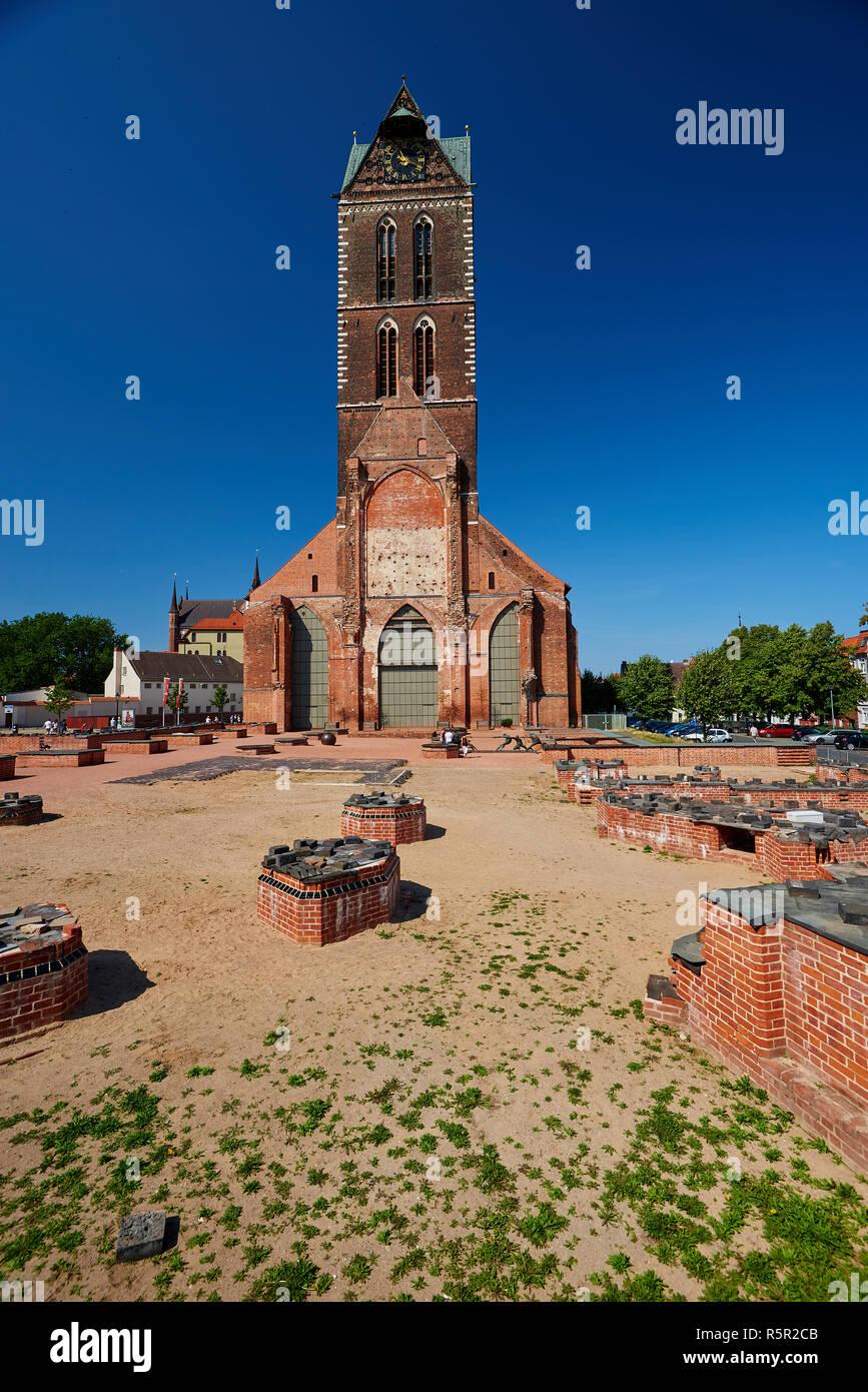 oldtown and world heritage Wismar - Stock Image