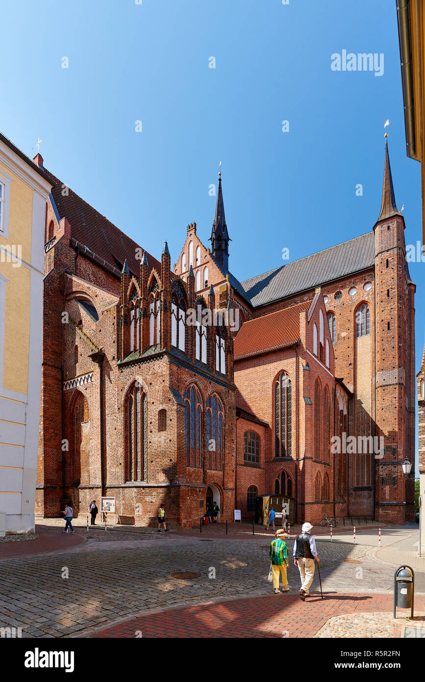 oldtown and world heritage Wismar - Stock Image