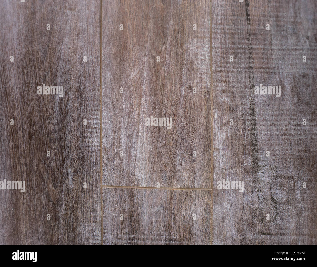 Laminate flooring wooden texture with deep facture - Stock Image