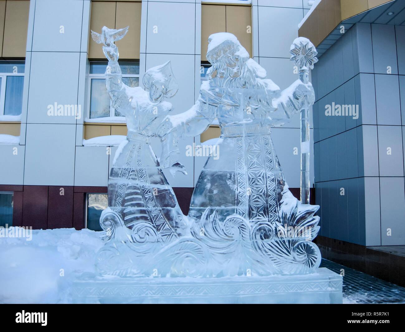 Winter ice figures - Stock Image