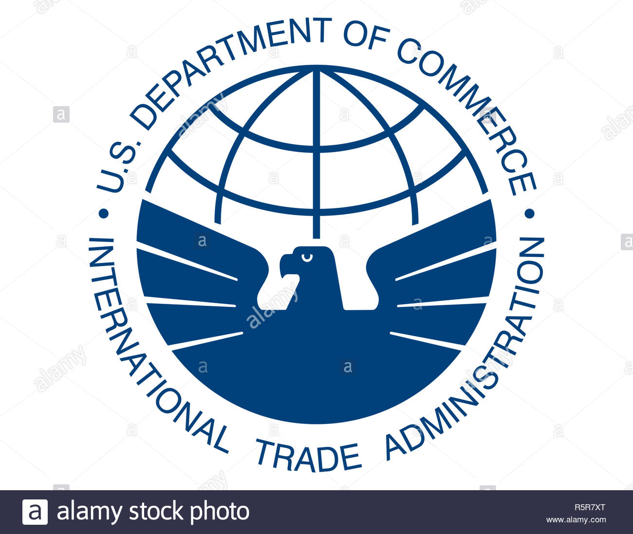 International Trade Administration logo sign - Stock Image