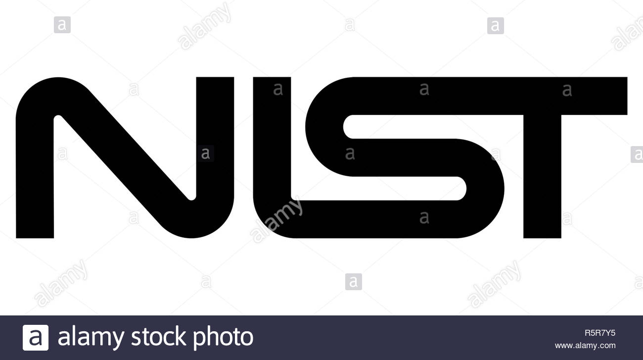 National Institute of Standards and Technology logo sign - Stock Image