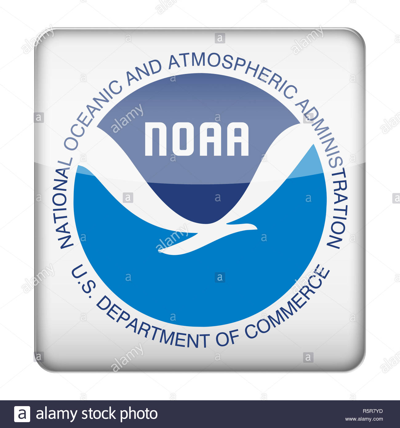 National Oceanic and Atmospheric Administration logo - Stock Image