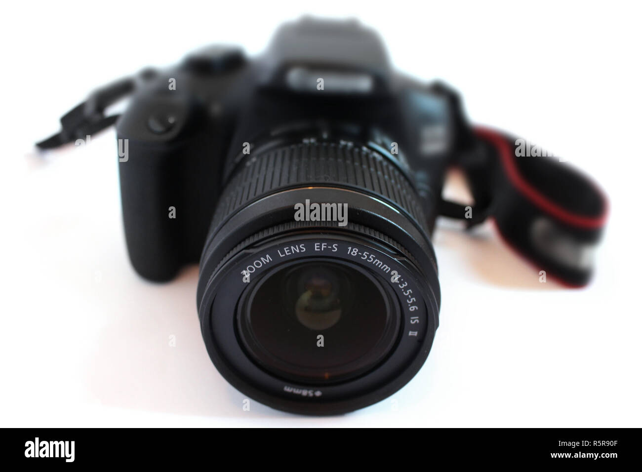 Camera black digital slr single lens reflex - Stock Image