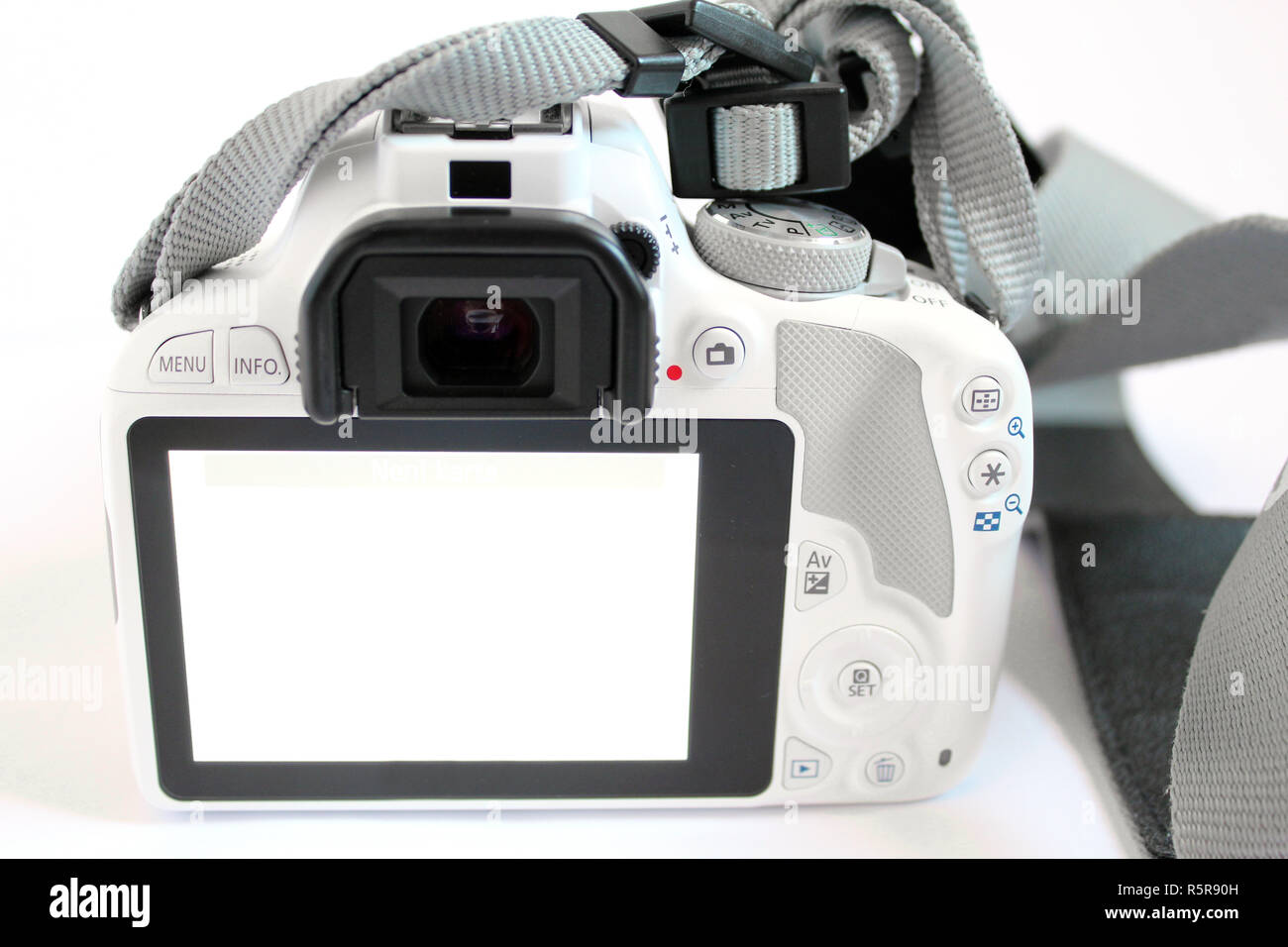 Camera digital slr single lens reflex white Stock Photo