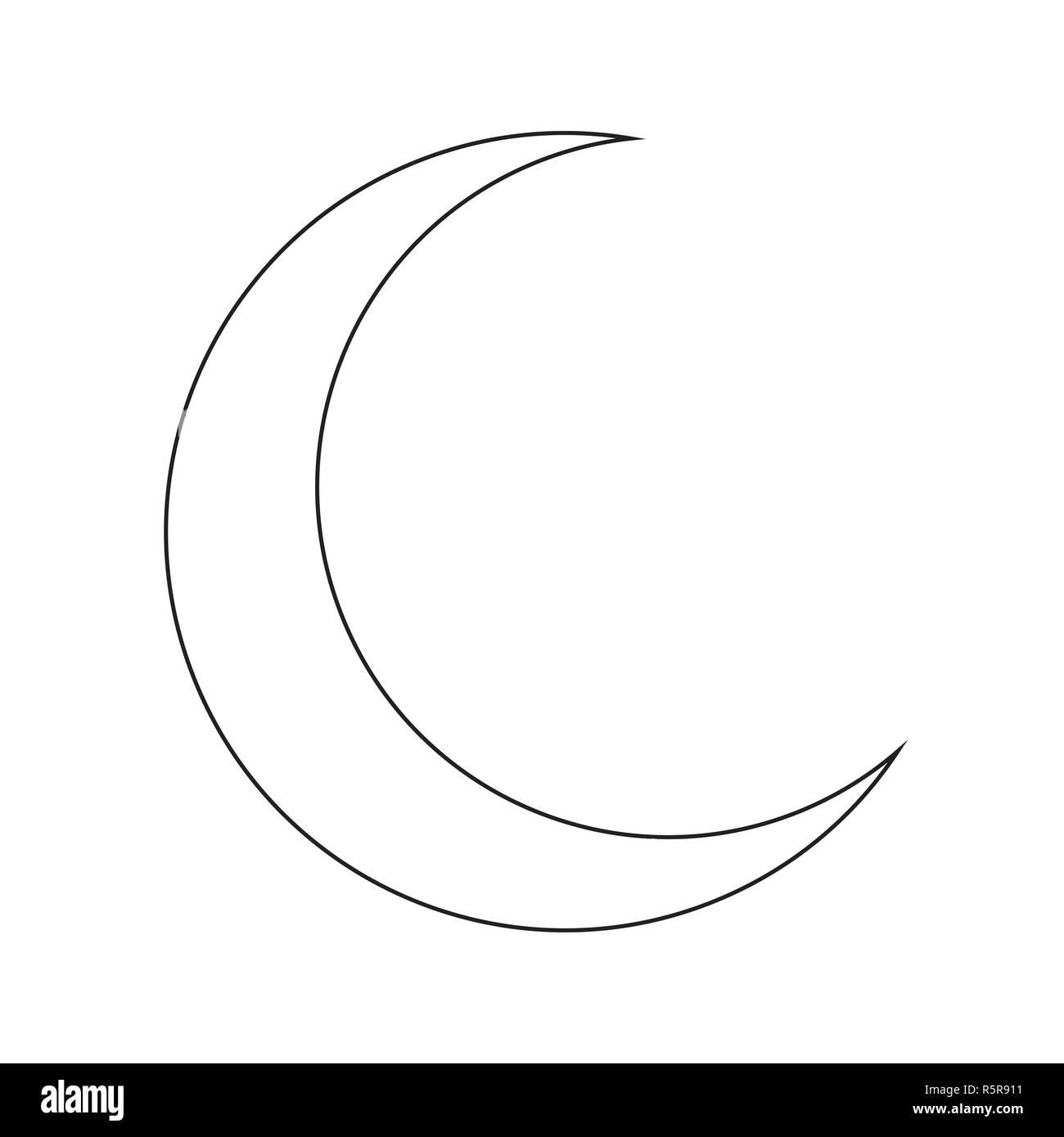 crescent moon silhouette vector symbol icon design Stock
