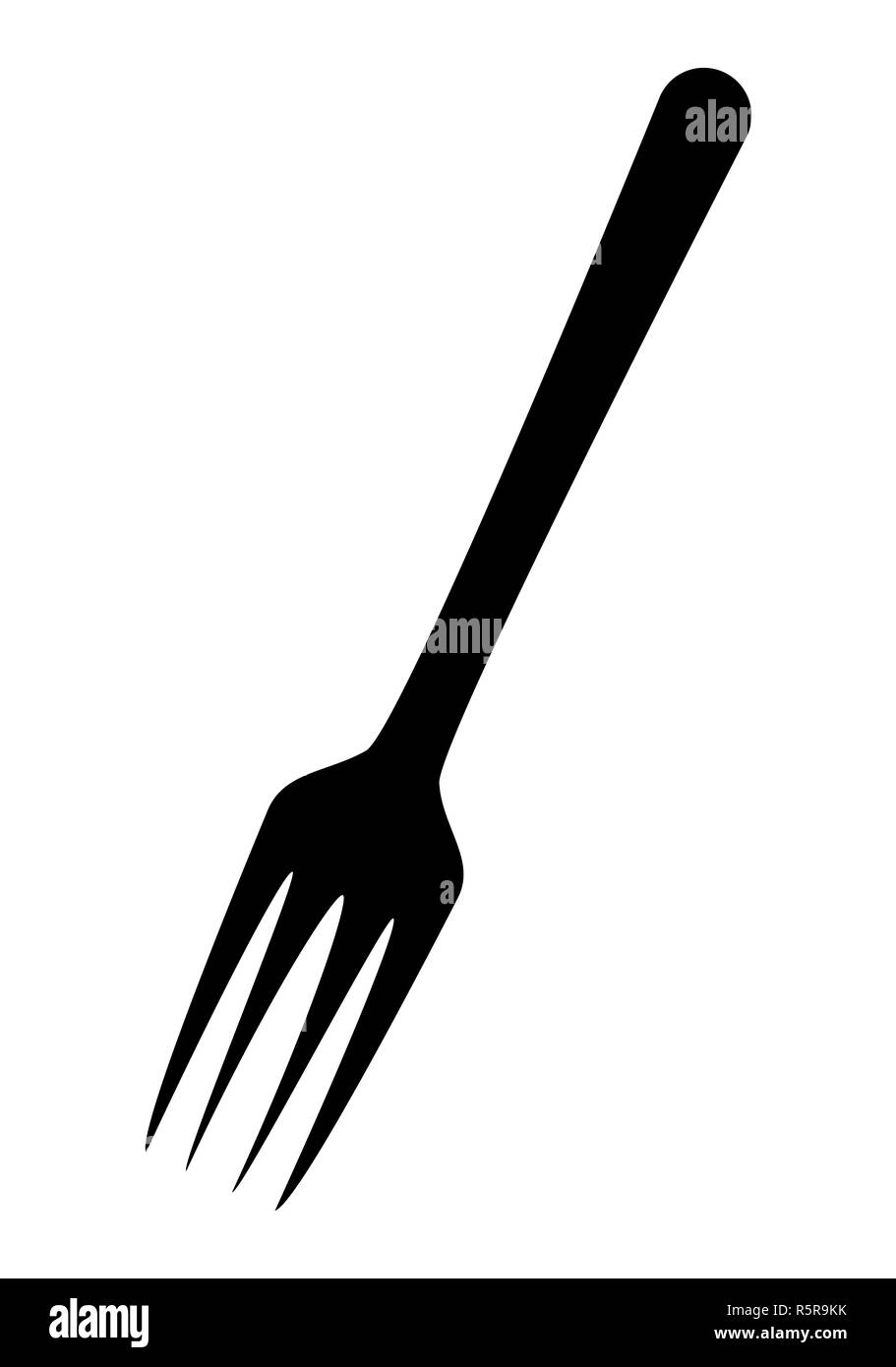 kitchen fork vector symbol icon design. - Stock Image