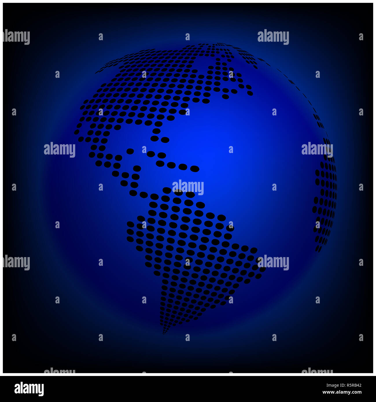 Globe Earth World Map Abstract Dotted Vector Background