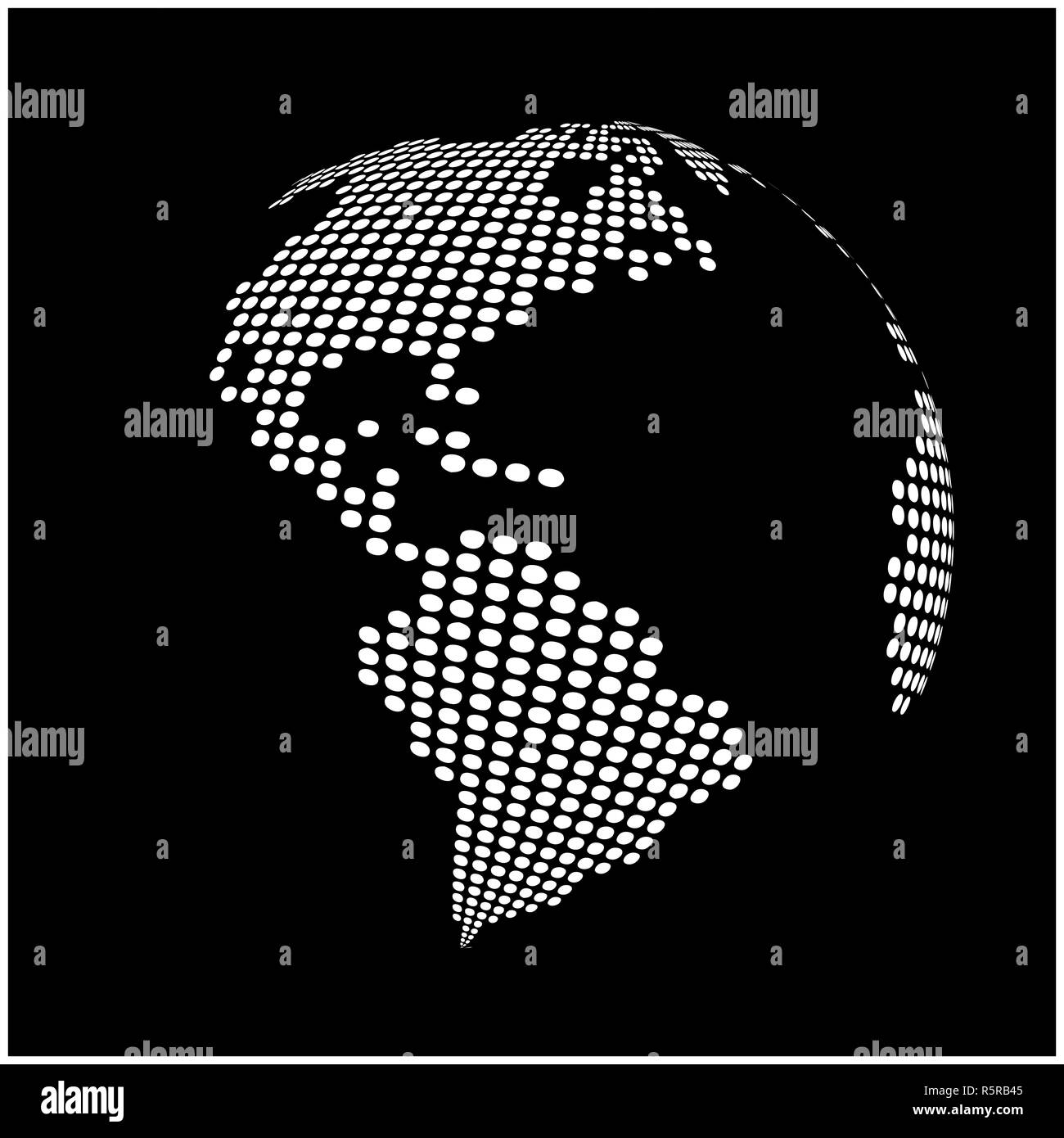 globe earth world map - abstract dotted vector background ...