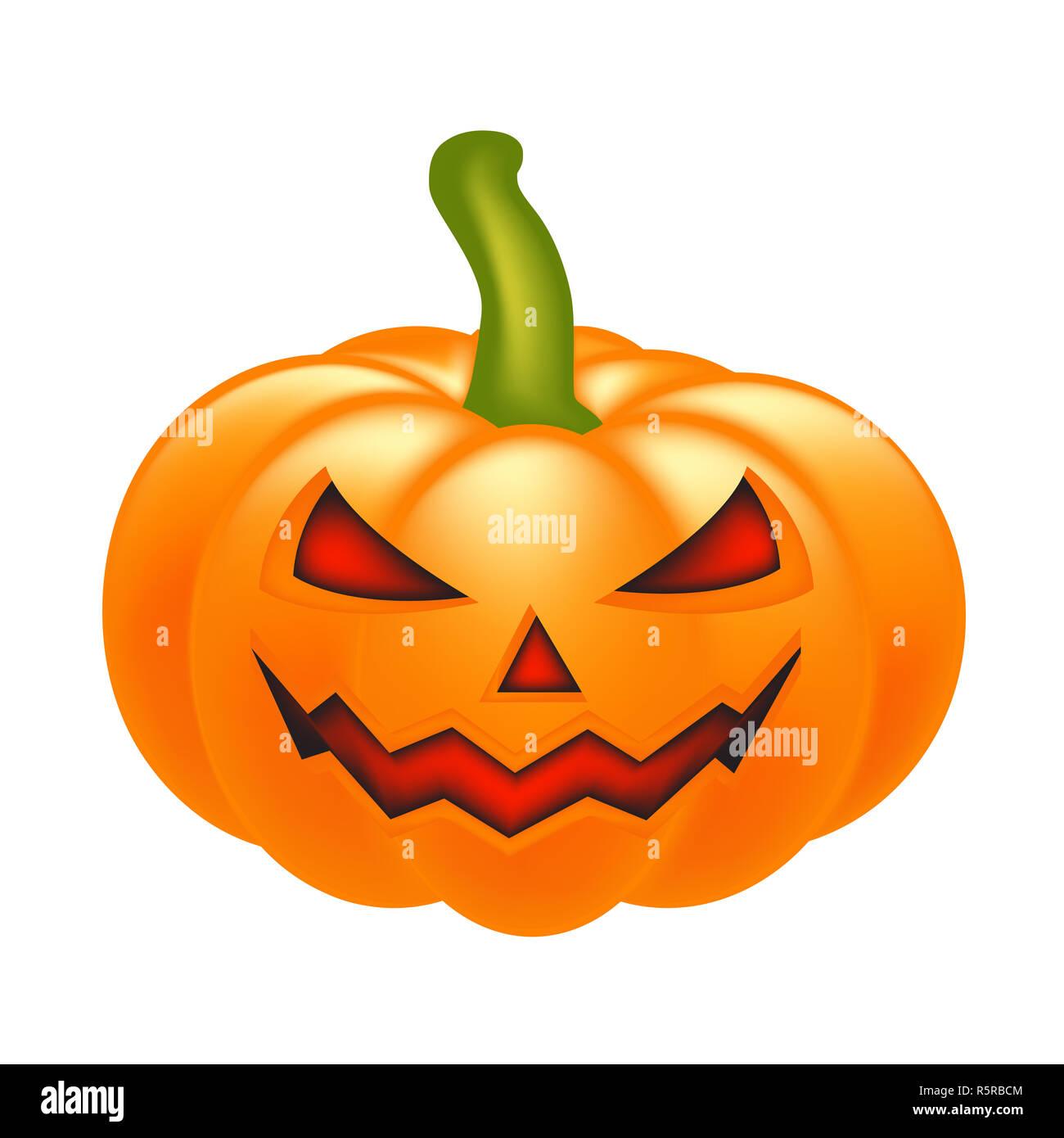 Halloween Pumpkin Vector.Halloween Pumpkin Vector Illustration Jack O Lantern Isolated On