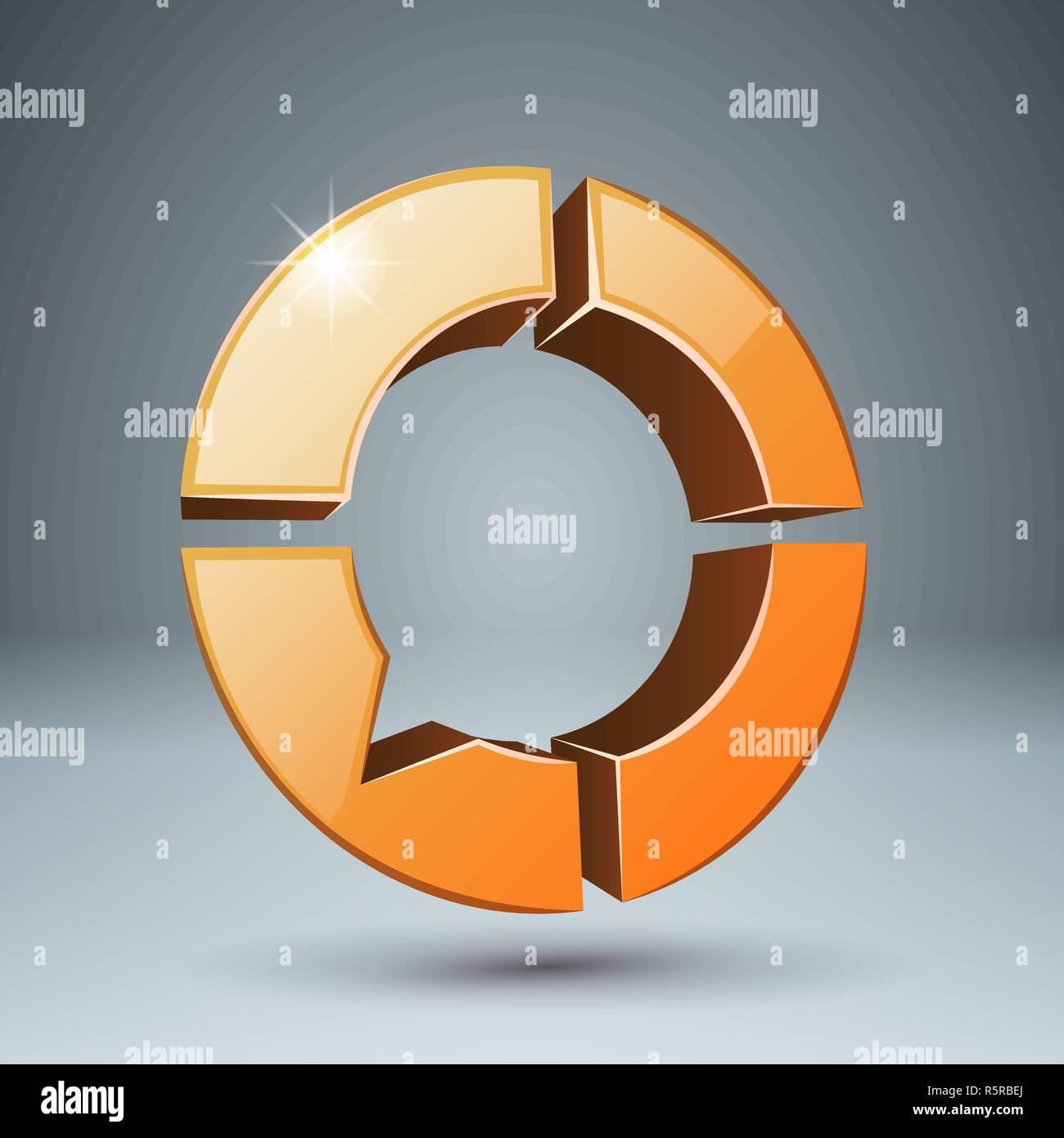 Bubbles speech - 3d icon. Four items. - Stock Image