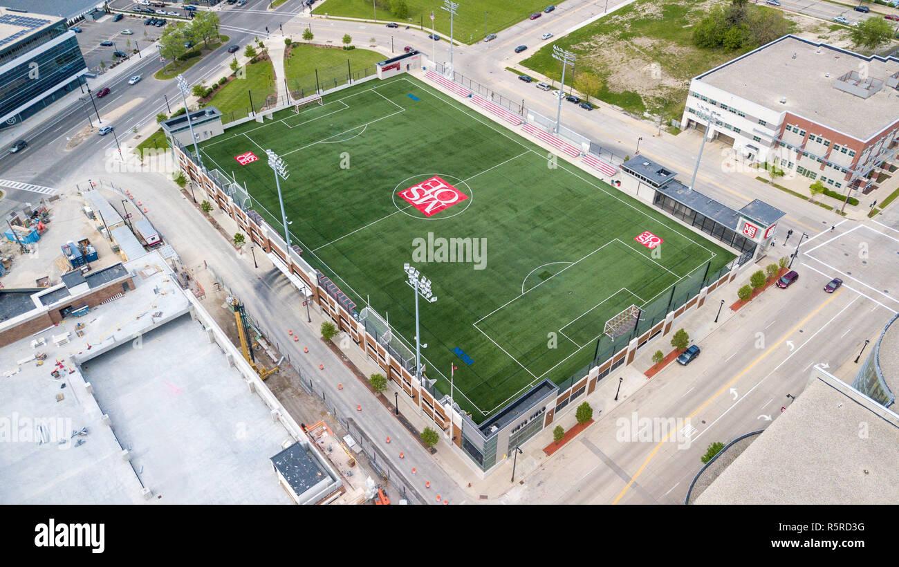 MSOE University, Milwaukee School of Engineering, Sports Field, Milwaukee, WI, USA - Stock Image