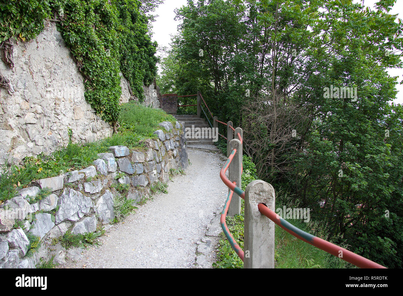 weg am schloßberg in graz without persons in styria on the day Stock Photo