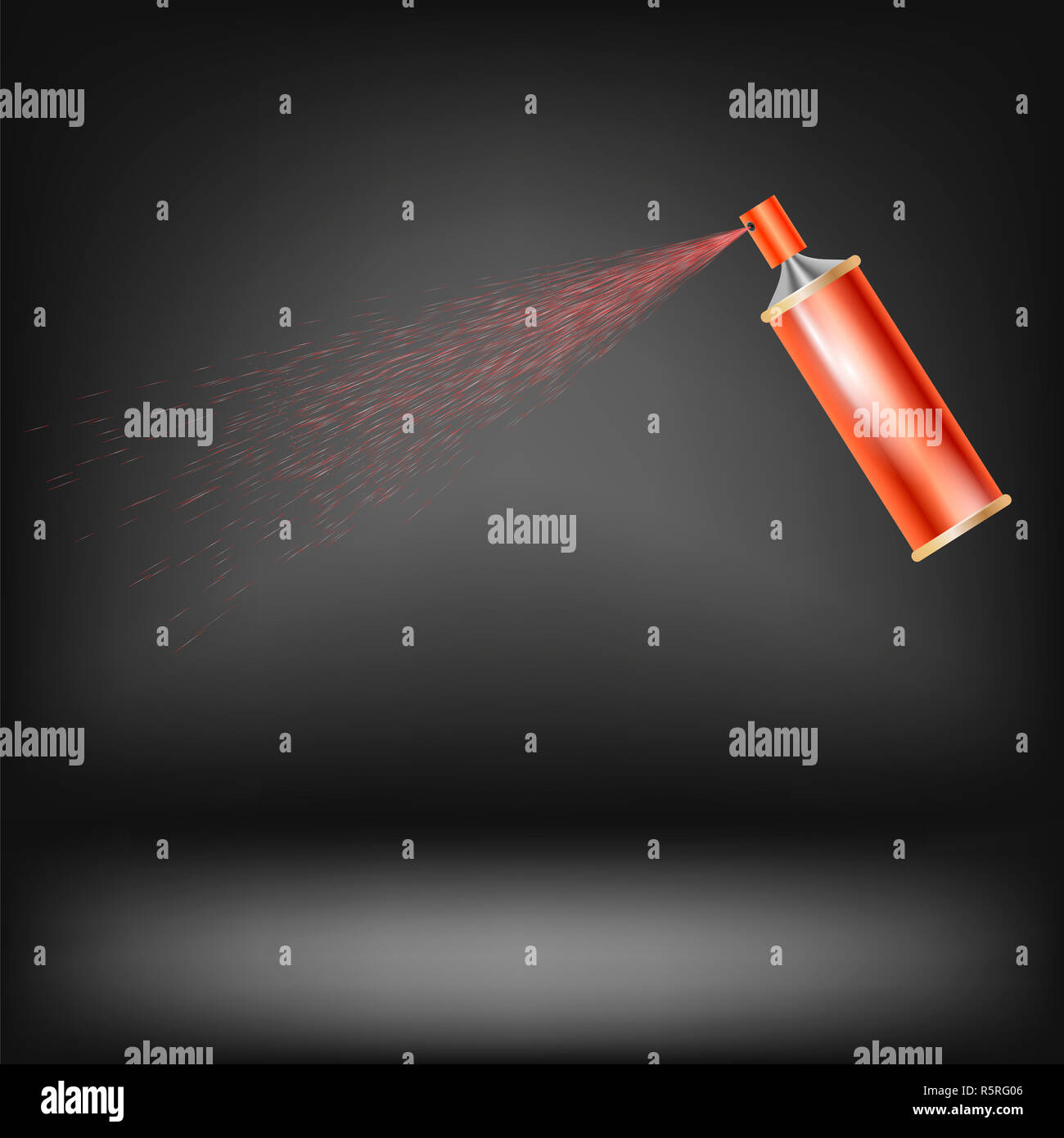 Red Spray Isolated - Stock Image