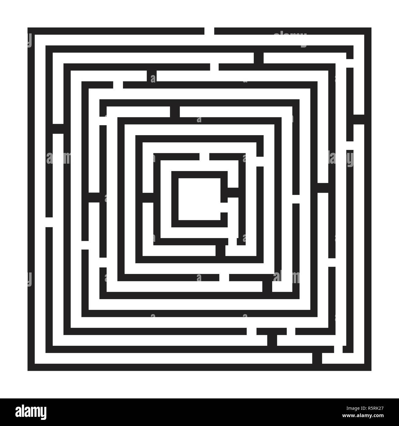 square maze, labirynth vector symbol icon design. Stock Photo