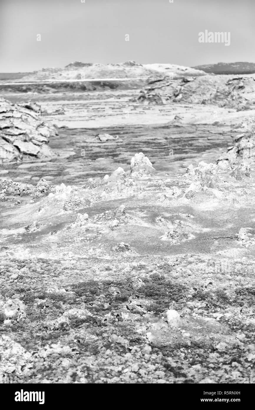 in  danakil ethiopia africa  the volcanic depression  of dallol - Stock Image