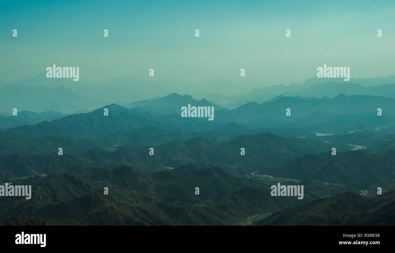Al Hada Mountain in Taif City. - Stock Image
