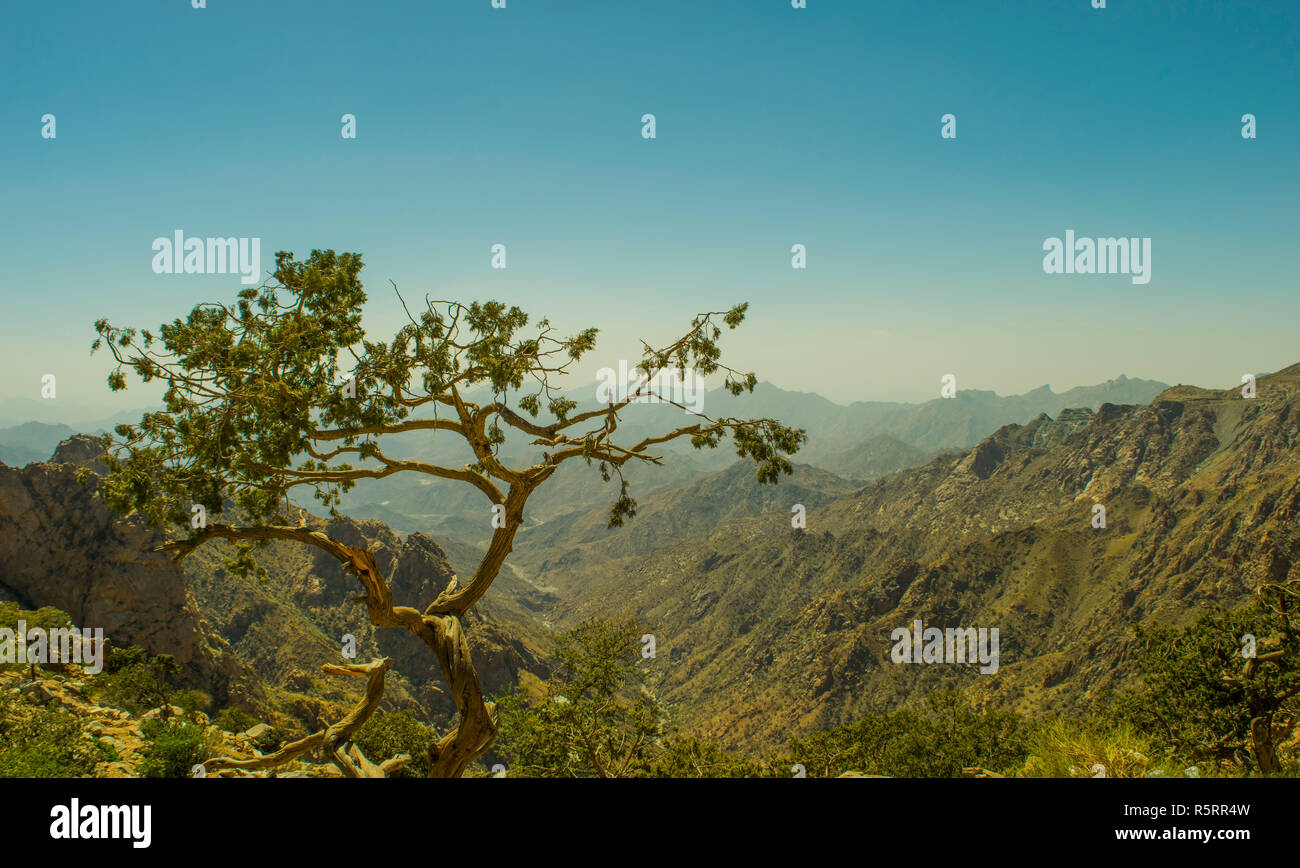Al Hada Mountain in Taif City - Stock Image
