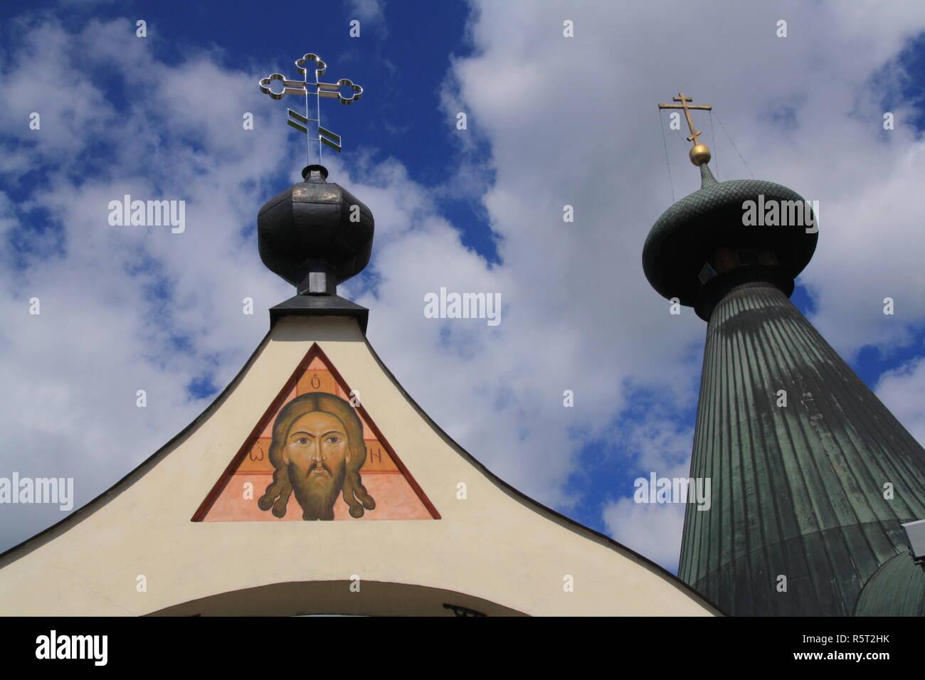 ortodox church in hajnowka - Stock Image