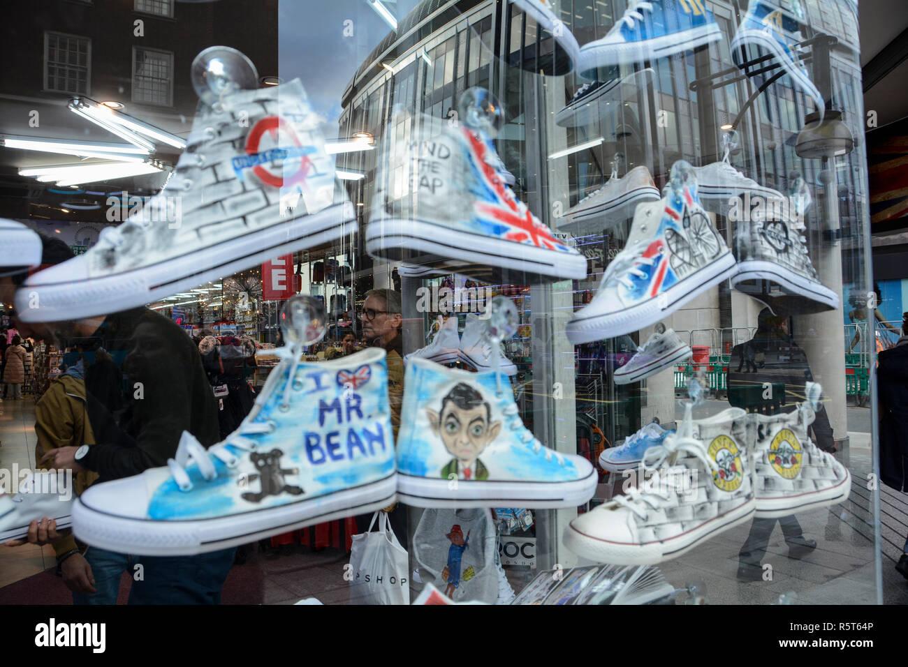 b380b514ef46 Mr Bean converse shoes in a shoe shop