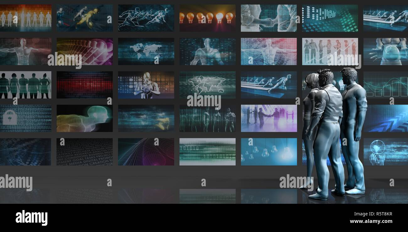 Multimedia Entertainment - Stock Image
