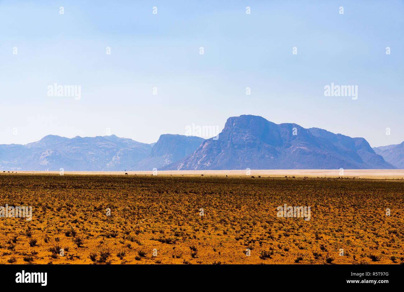 d707 namibia desert landscape sky - Stock Image