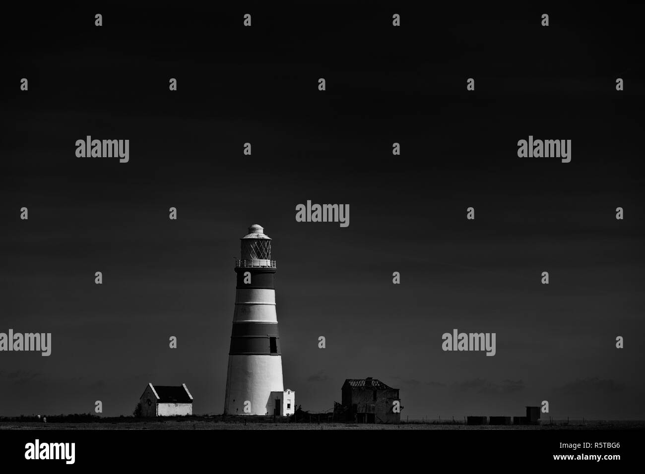 The Orfordness lighthouse, Orford Ness, Suffolk, England. - Stock Image
