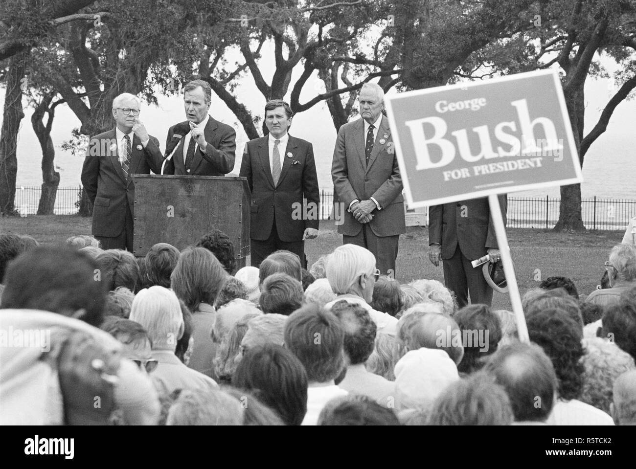 George HW Bush - Pictures taken 1988 - Died Nov 20118 - Stock Image