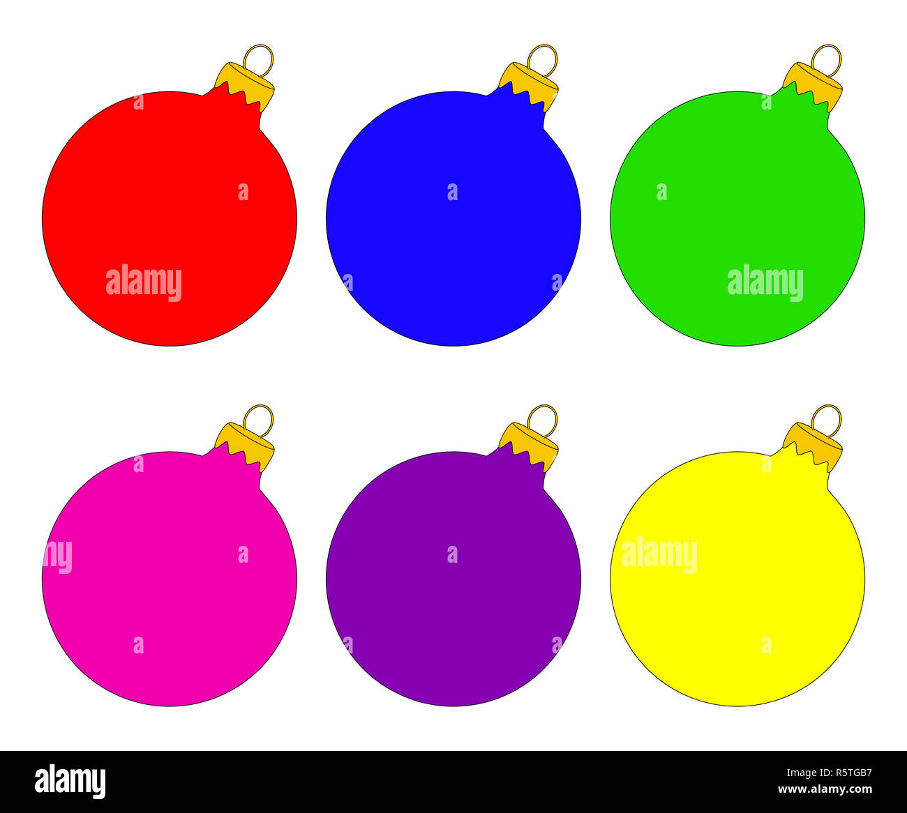 Christmas Bauble Icon Set Symbol Design Winter Illustration Electrical Isolated On A White Background Stock