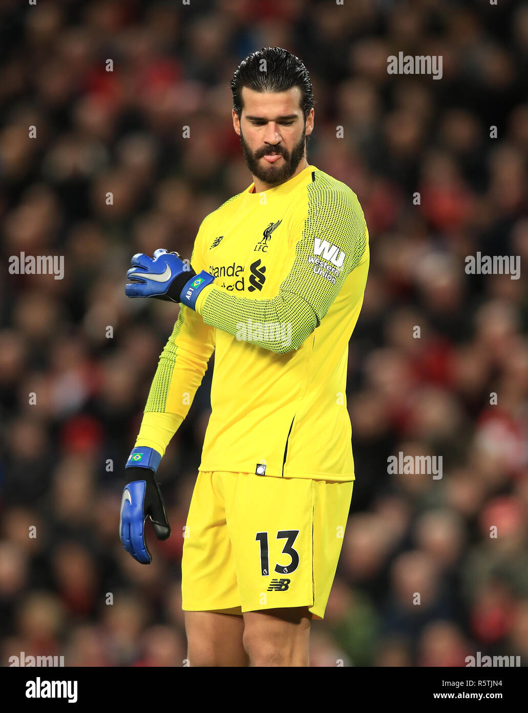ca535b95c82 Liverpool goalkeeper Alisson Becker during the Premier League match at  Anfield