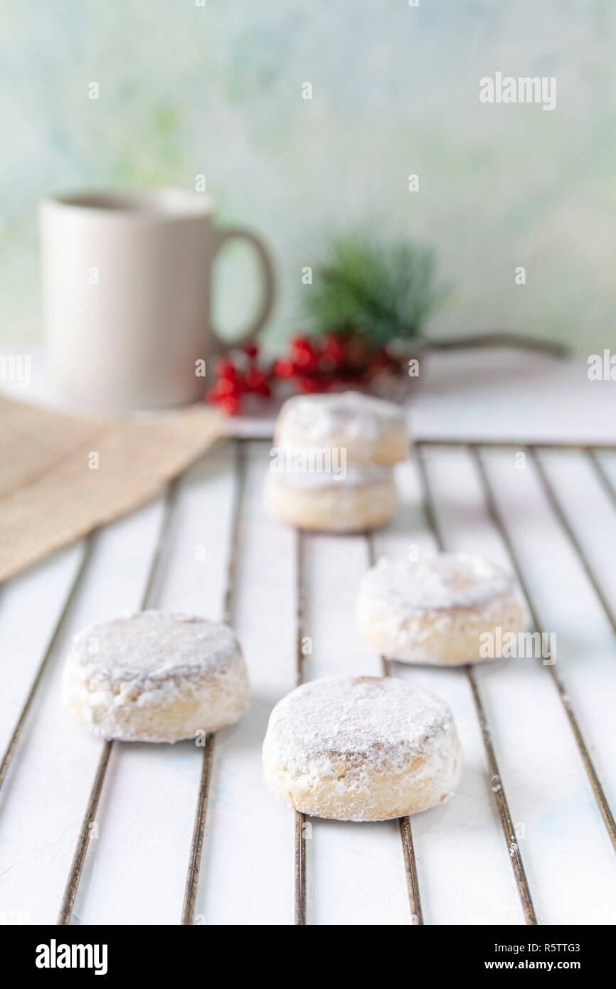 Christmas spanish sweets. Polvorones. - Stock Image