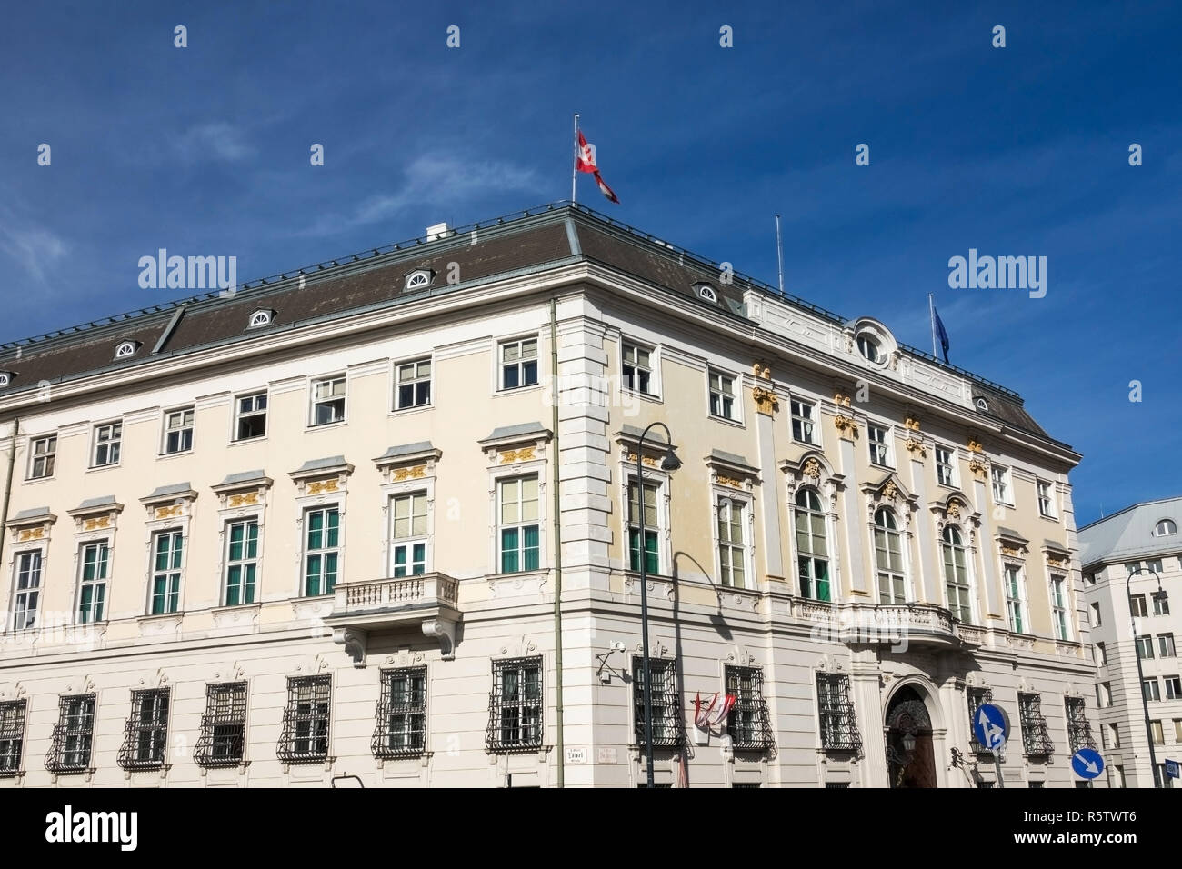 federal chancellery vienna - Stock Image