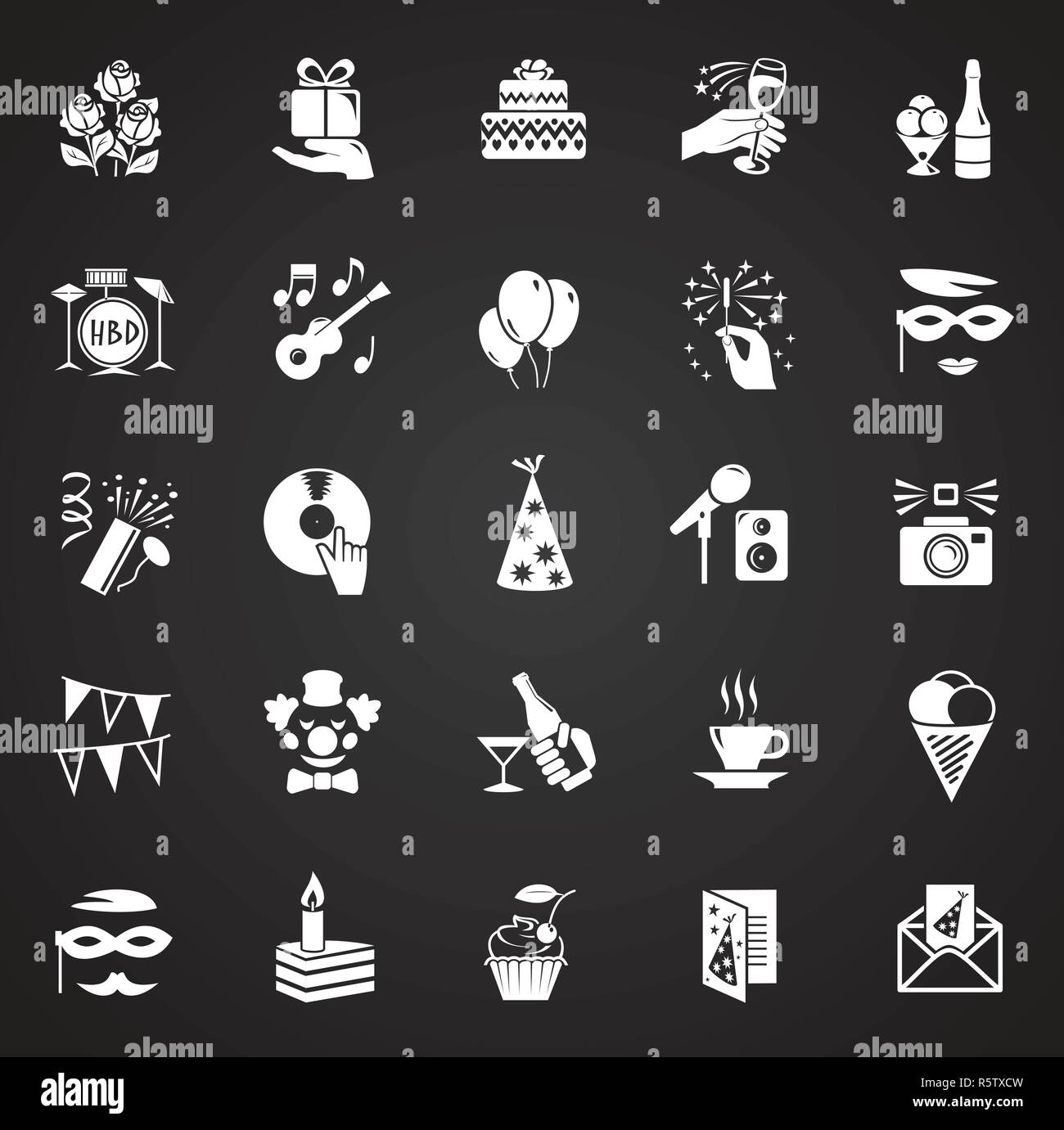 Birthday Party Icons Set On Black Background For Graphic And Web Design Modern Simple Vector Sign Internet Concept Trendy Symbol For Website Design Web Button Or Mobile App Stock Vector Image,Low Cost Minimalist House Design Interior