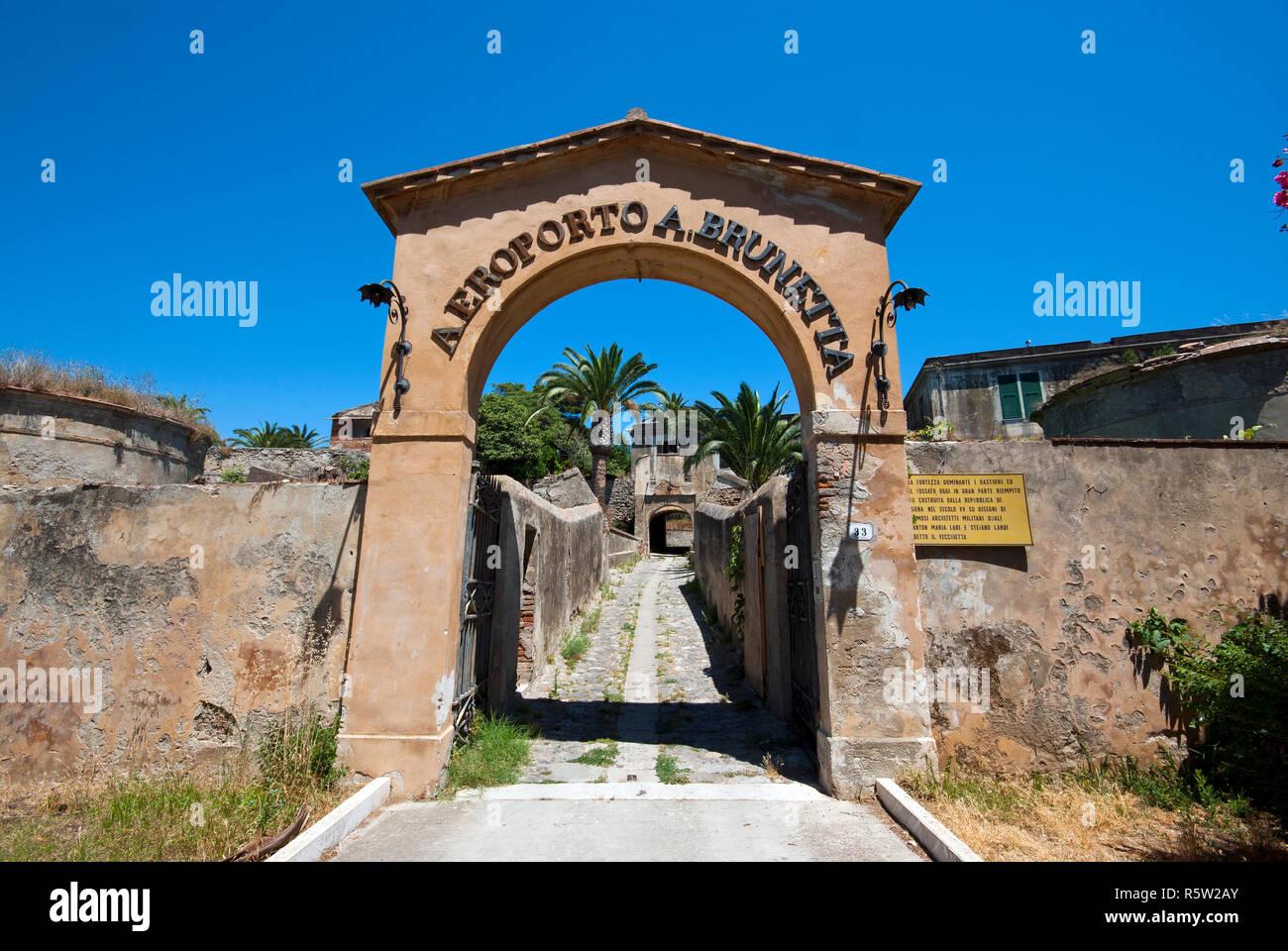 Ex military airport 'Agostino Brunetta', Orbetello, Grosseto, Tuscany, Italy - Stock Image